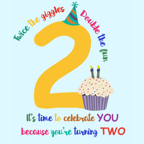 Happy 2nd Birthday - Birthday Wishes, Messages, Images, Cards