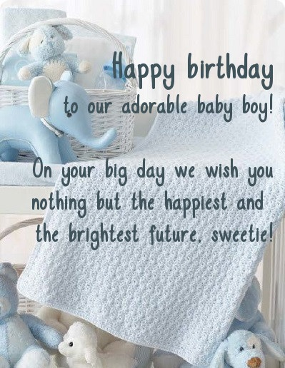 Birthday Wishes For Baby Boy - Birthday Wishes, Cards, Images And Greetings