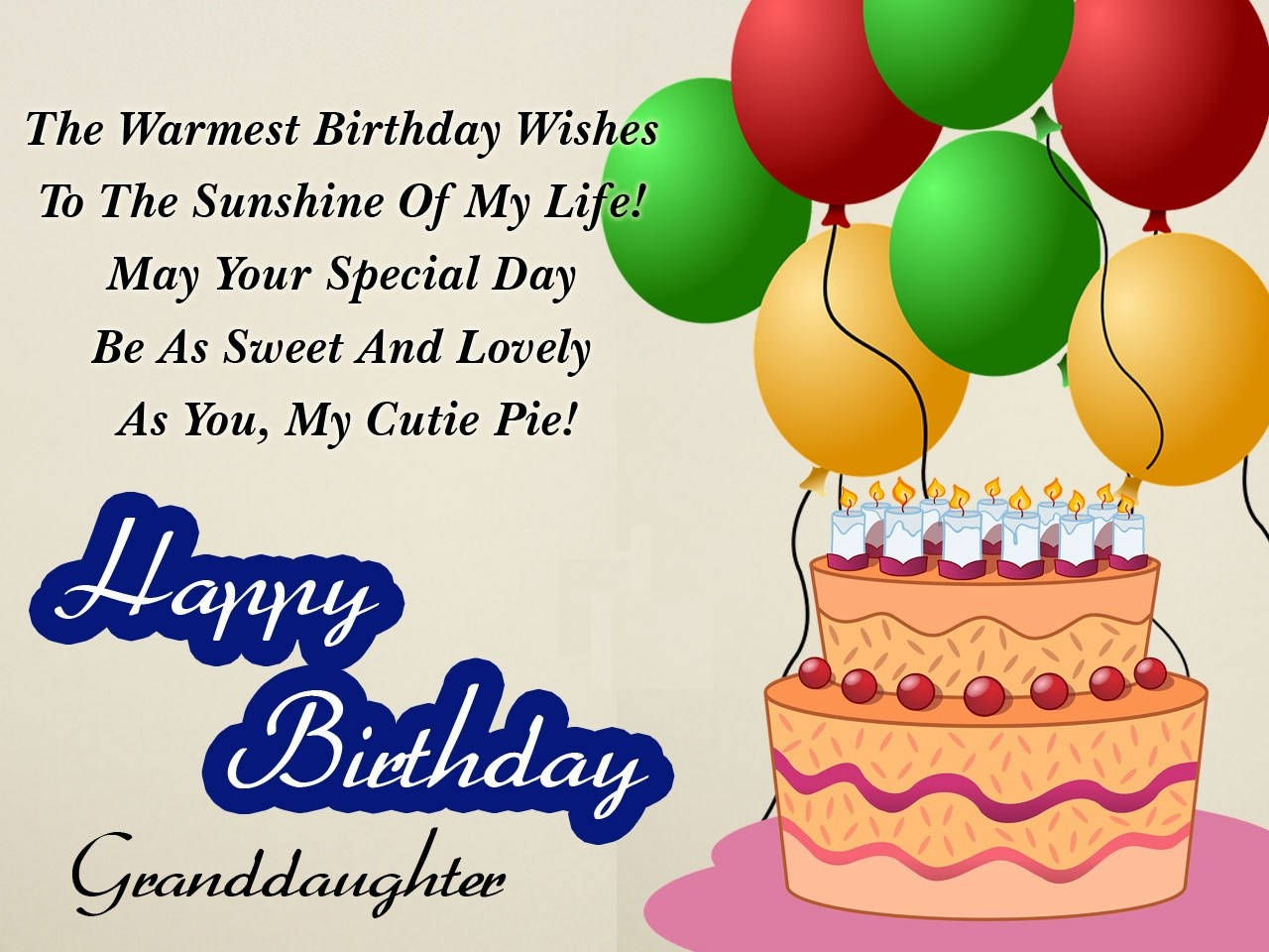 Birthday Wishes For Granddaughter - Happy Birthday Wishes For Granddaughter