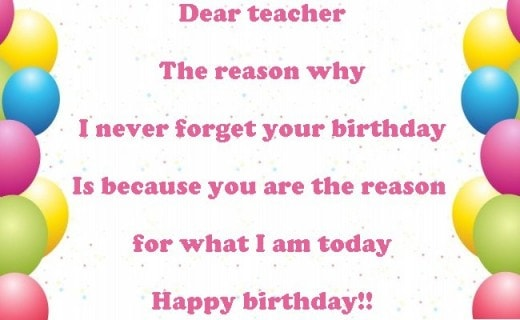Happy Birthday teacher wishes, messages, quotes, images