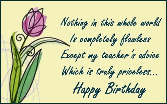 Teacher Happy Birthday Wishes