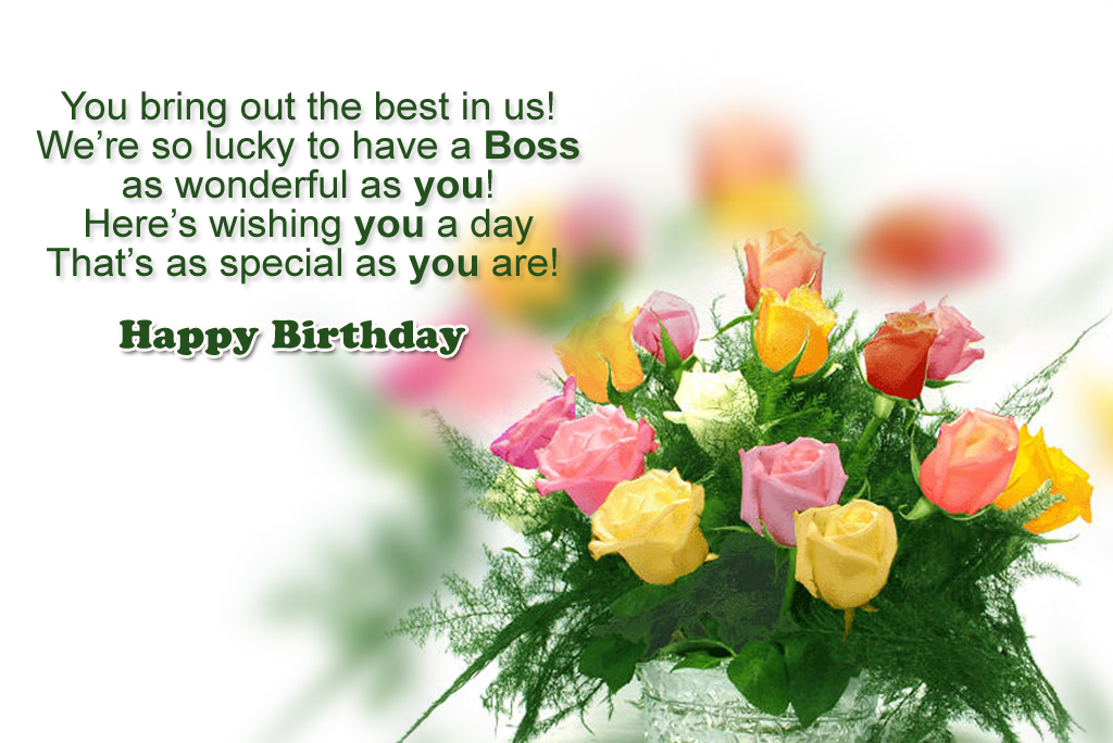 Birthday Greetings For Boss