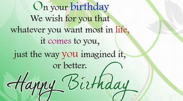 Birthday Messages Wishes