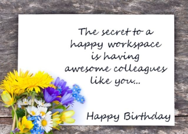 Birthday Wishes For Colleagues - Birthday Wishes, Images