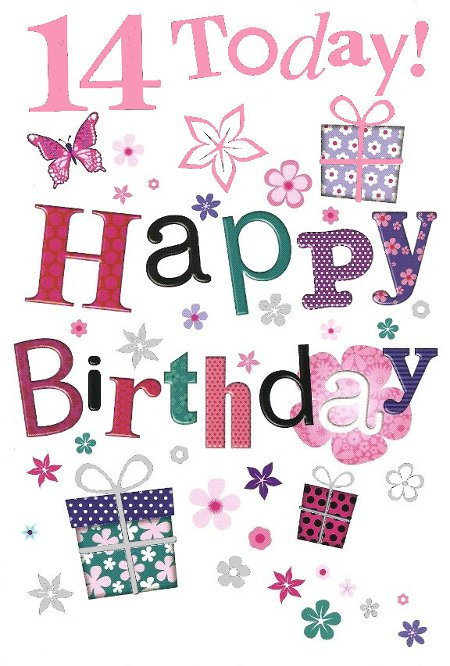 Happy 14th Birthday - Birthday Wishes, Images, Sayings, Greetings, Cards