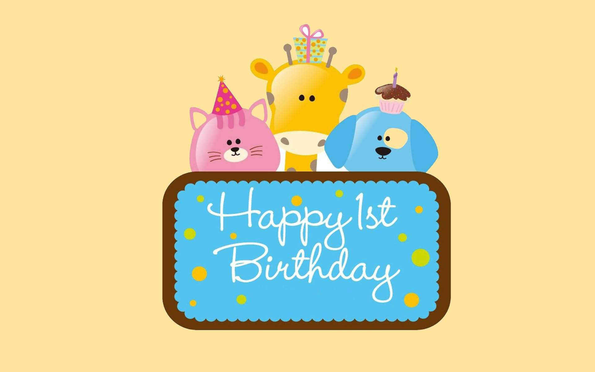 Happy 1st Birthday Wishes Messages Sayings Cards Lines Happy Birthday 1st Year Wishes