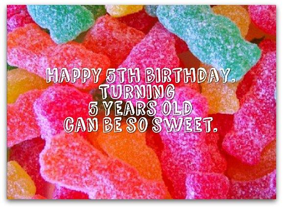 Happy 5th Birthday Sayings