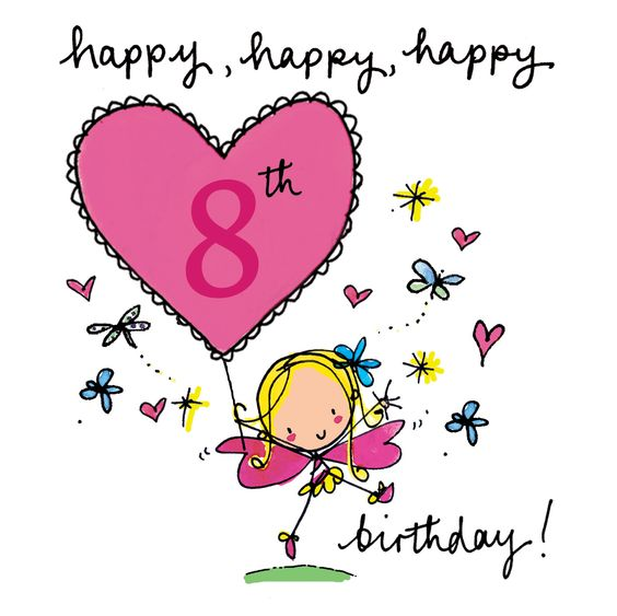 Happy 8th Birthday - Birthday Wishes, Images, Messages, Cards