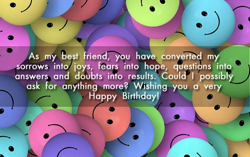 Happy Birthday SMS For Friends - Birthday Wishes