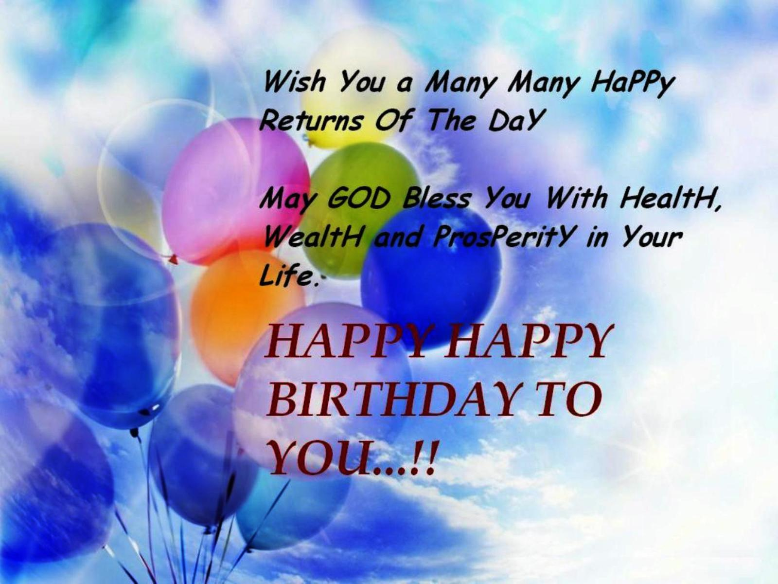 Happy Birthday Wishes Quotes - Birthday Wishes, Greetings