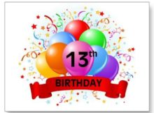 Sayings For 13th Birthday