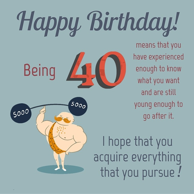 40th Birthday Greetings