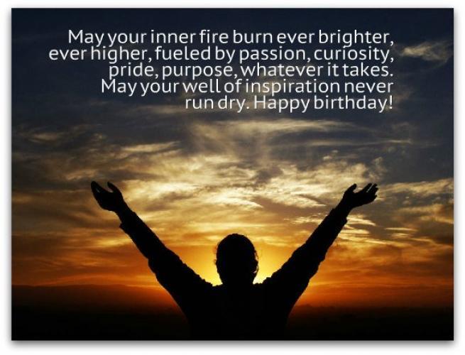Inspirational Birthday Wishes - Spiritual Birthday Quotes
