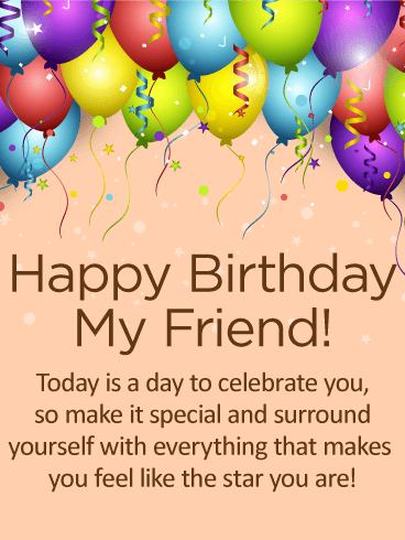 Cute Happy Birthday Card Images For Friend