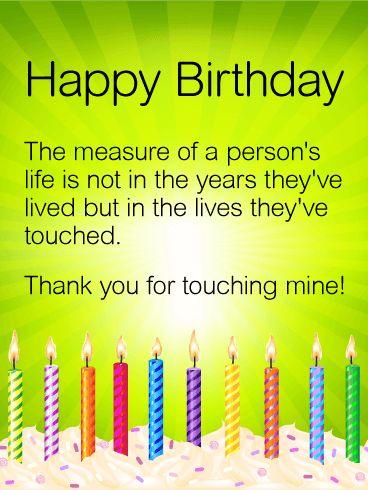 Thankyou Birthday Card For Friend