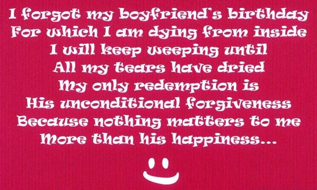 Happy Belated Birthday To Boyfriend