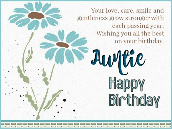 Aunt Birthday Card Messages