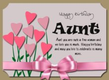 Happy Birthday Aunt Wishes