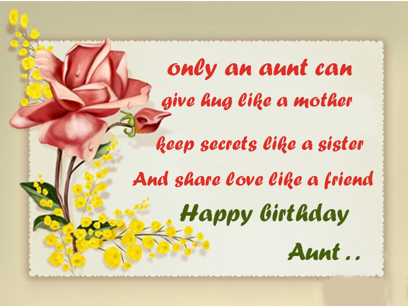 Aunt Birthday Wishes Messages