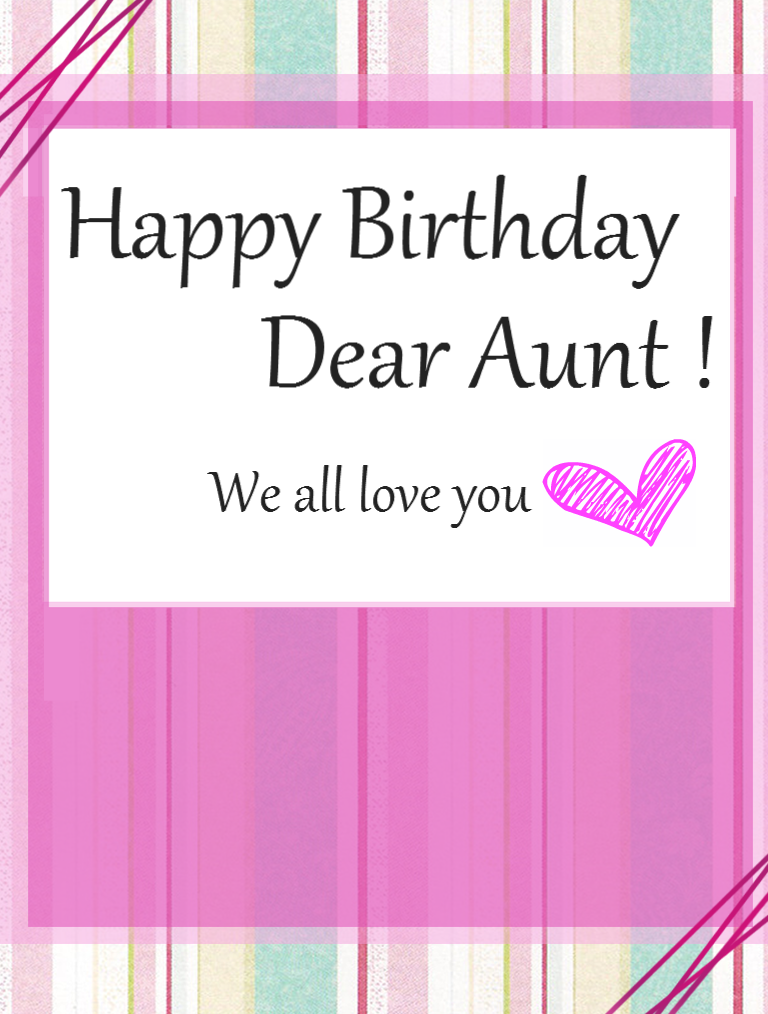 Happy Birthday Wishes Images for Aunt