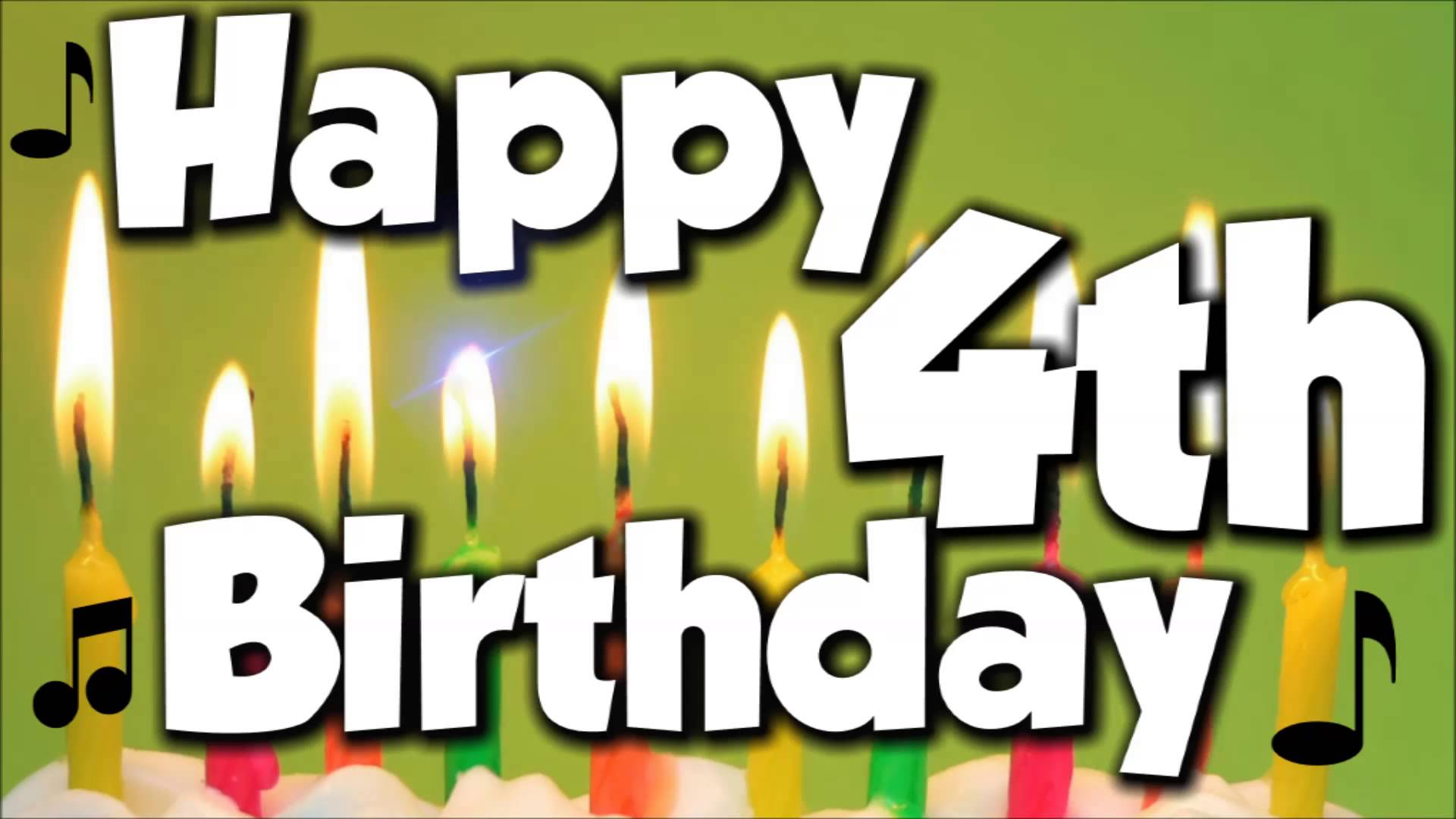 Happy 4th Birthday Wishes for Kids