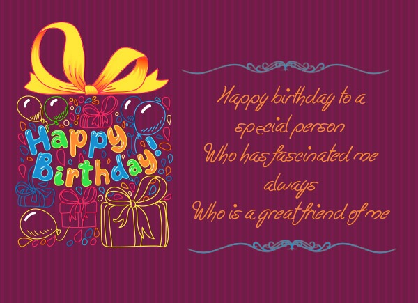 Happy Birthday Messages for Special Friend